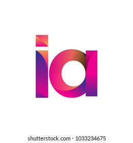 Initial Letter IA Logo Lowercase, magenta and orange, Modern and Simple Logo Design.