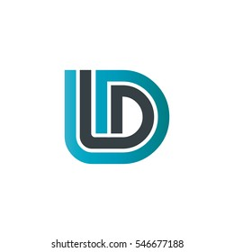 Initial Letter ID LD Linked design Logo