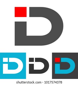 Initial letter ID logo vector. ID initial logo company name