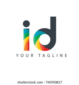 Initial Letter ID Rounded Design Logo