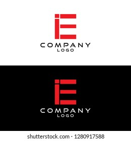 initial letter ie/ei logotype company name design template vector