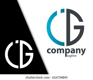 Initial Letter IG JG With Linked Circle Logo