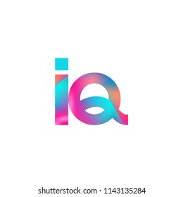 Initial Letter IQ Logo Lowercase colorful design, Modern and Simple Logo Design.