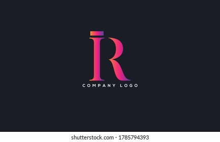 Initial Letter IR or RI Logo Design vector Template. Creative Abstract IR Logo Design Vector Illustration