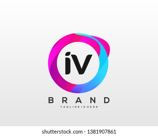 Letter Iv Logo Images Stock Photos Vectors Shutterstock