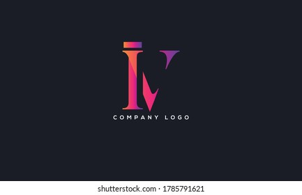 Initial Letter IV or VI Logo Design vector Template. Creative Abstract IV Logo Design Vector Illustration