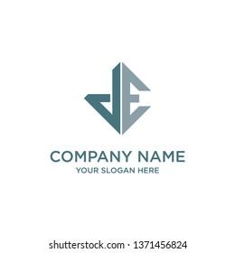 Initial Letter J E Logo Template Design - Vector