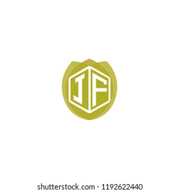 Initial Letter J, F, JF Logo Design with Leaf, Ecology, Nature, Organic Illustration for Company Identity Concept Design