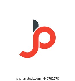 initial letter jb linked round lowercase logo red