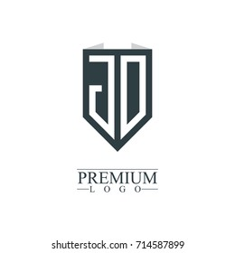 Initial Letter JD Company Design Logo Template