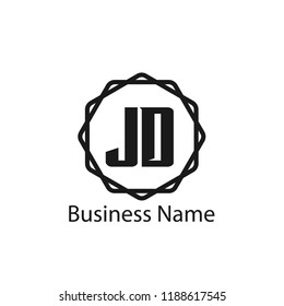 Initial Letter JD Logo Template Design