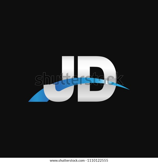 initial letter jd overlapping movement swoosh stock vector royalty free 1110122555 shutterstock