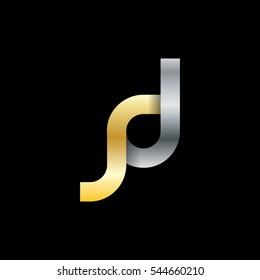 Initial Letter JD SD SJ Logo