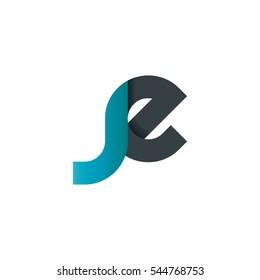 Initial Letter JE SE Logo