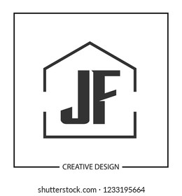 Initial Letter JF Logo Template Design