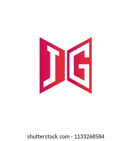 Initial Letter JG Logo Design, Hexagonal Shape with Infinity Style