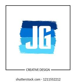 Initial Letter JG Logo Template Design