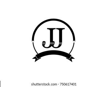 initial letter JJ logo monogram retro black