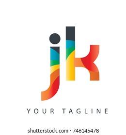 Initial Letter JK Rounded Design Logo