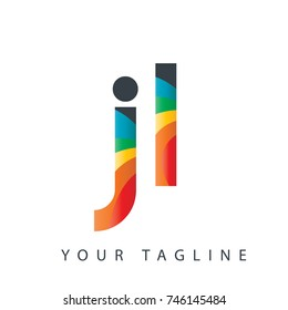 Initial Letter JL Rounded Design Logo
