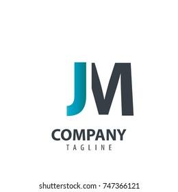 Initial Letter JM Design Logo