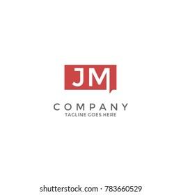 Initial Letter JM Logo