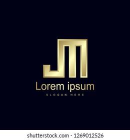 Initial Letter JM Logo Template Vector Design