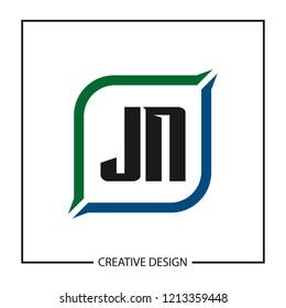Initial Letter JN Logo Template Design