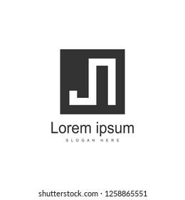 Initial Letter JN Logo template design. Minimalist letter logo vector design
