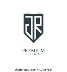 Initial Letter JR Company Design Logo Template
