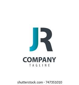 Initial Letter JR Design Logo