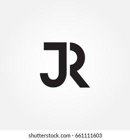 initial letter JR icon logo design