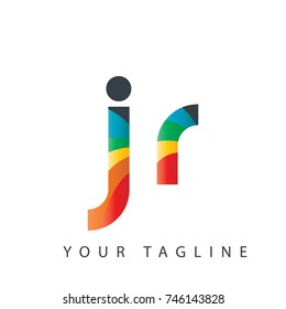 Initial Letter JR Rounded Design Logo