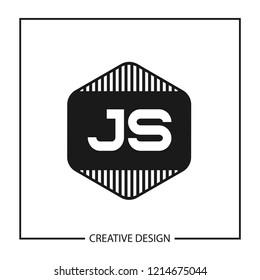 Initial Letter JS Logo Template Design