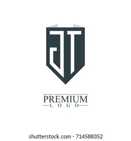 Initial Letter JT Company Design Logo Template