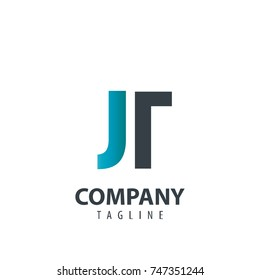 Initial Letter JT Design Logo