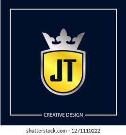 Initial Letter JT Logo Template Design