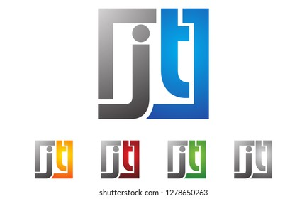 initial letter JT logotype company name , modern logo concept. vector logo for business and company identity.