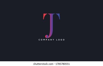 Initial Letter JT or TJ Logo Design vector Template. Creative Abstract JT Logo Design Vector Illustration