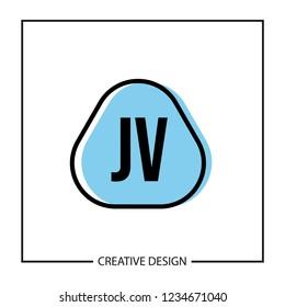 Initial Letter JV Logo Template Design