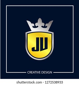 Initial Letter JV Logo Template Vector Design