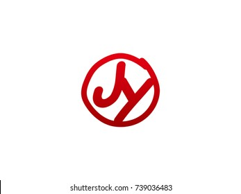 The initial letter JY handwritten logo
