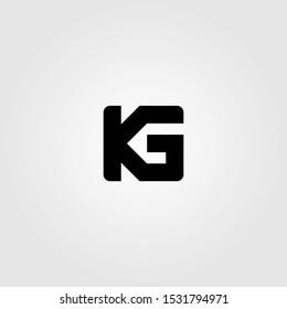 initial letter K G logo icon vector illustration design