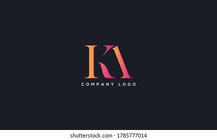 Initial Letter KA or AK Logo Design vector Template. Creative Abstract KA Logo Design Vector Illustration