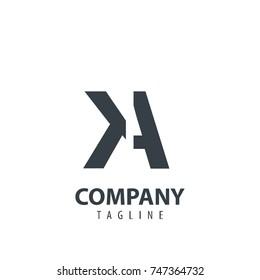 Initial Letter KA Design Logo