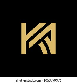 Initial Letter KA Logo, Vector Illustration Design