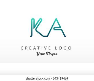 Initial Letter KA logo vector