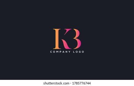 Initial Letter KB or BK Logo Design vector Template. Creative Abstract KB Logo Design Vector Illustration