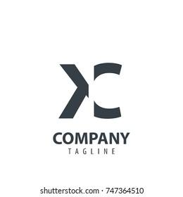 Initial Letter KC Design Logo