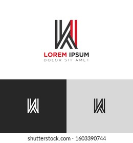 Initial Letter KI linked uppercase overlap modern logo design template. Suitable for business, consulting group company